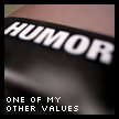 One of my other values …
